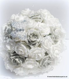 Silver Rose Brides Bouquet - possibly for bridesmaids