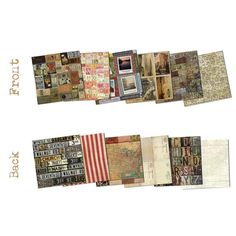 ORDRE DU JOUR Paper Pad, 7 Gypsies Ordre du Jour, 7 Gypsies Pad, Vintage Card Stock, 7 Gypsies, 8 X 8 Paper Pad, 8 x 8 Vintage Paper Pad by OneDayLongAgo on Etsy