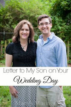 Letter to My Son on Your Wedding Day - Marty's Musings
