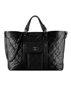 Large calfskin shopping bag - CHANEL