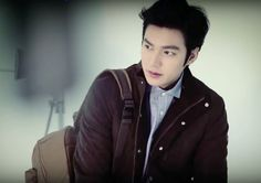Lee Min Ho for F/W Fila, 2014.  BTS photoshoot screenshot.