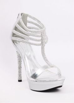 Silver wedding shoes at http://www.shopzoey.com/Silver-Shoes-with-5-heels-and-1-1-2-platform-Style-800-30.html $69.99
