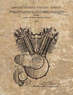 Harley Engine Design Patent