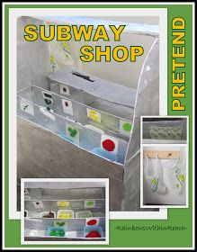 """photo of: """"Pretend"""" Learning Center in Preschool: 'Subway' Restaurant from a box via RainbowsWithinReach"""