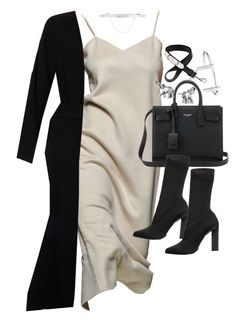 """""""Untitled #20094"""" by florencia95 ❤ liked on Polyvore featuring Yves Saint Laurent, Calvin Klein Collection, Lonna & Lilly, Eddie Borgo, Givenchy, French Connection and Helmut Lang"""