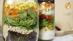 Te enseñamos a hacer ensalada en frasco. La mejor manera de llevarte una comida rica y sana al trabajo, con toda la frescura de las verduras.