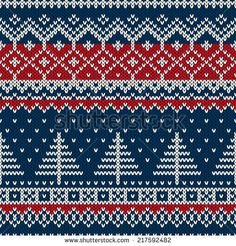 Winter Holiday Seamless Knitting Pattern With A Christmas Tree Stock Vector - Illustration of merry, embroidery: 46173646 Knitting Charts, Knitting Stitches, Knitting Patterns, Crochet Patterns, Knitting Ideas, Motif Fair Isle, Fair Isle Pattern, Knitted Christmas Stockings, Christmas Knitting