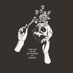 Yea I juc hope. Skull Wallpaper, Dark Wallpaper, Art Design, Cover Design, Art Sketches, Art Drawings, Depressed Aesthetic, Image Triste, Drawing Tips