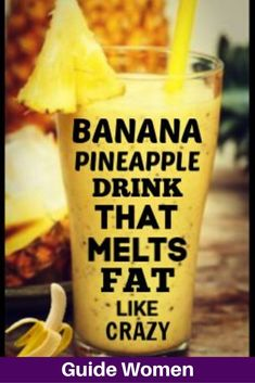 Banana Pineapple Drink To Melt Fat Like Crazy - Kansai Seafood - Smoothies Diet Weight Loss Healthy Juices, Healthy Smoothies, Healthy Drinks, Healthy Food, Fruit Smoothies, Healthy Meals, Healthy Detox, Healthy Eating, Fitness Smoothies