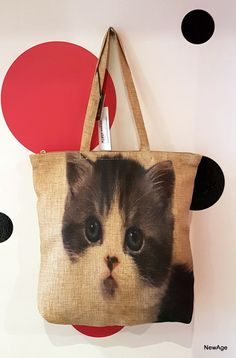 Sac shopping toile kitty, chat