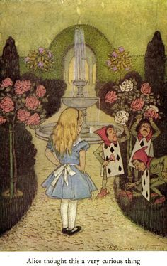 'Alice's Adventures in Wonderland and Through the Looking Glass' by Lewis Carroll; illustrated by John Tenniel and Elenore Abbott. Published 1916 by George W. Jacobs & Company, Philadelphia