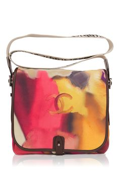 afde170be26226 Runway Edition Chanel Flower Power Printed Velvet Calfskin Small Messenger  Bag by Madison Avenue Couture for