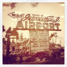 Picture of a vintage Miami airport picture - by http://www.thecherryblossomgirl.com/