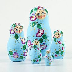 Floral Breeze Nesting Dolls | Floral theme | The Russian Store