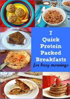 For your busy weekday mornings, 7 Quick Protein Packed Breakfast Recipes [sponsored] Vegetarian Breakfast Recipes, Healthy Chicken Recipes, Brunch Recipes, Healthy Snacks, Healthy Eating, Vegan Breakfast, Protein Packed Breakfast, Vegetable Nutrition, Breakfast Ideas