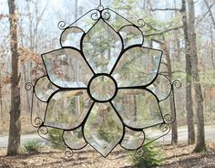 Stained Glass Panel Suncatcher Clear by CartersStainedGlass, $69.95