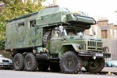 Go anywhere camper - ZIL 4x4 Trucks, Cool Trucks, Car Survival Kits, Off Road Camping, Winter Camping, Bug Out Vehicle, Zombie Vehicle, Expedition Truck, Offroader