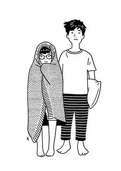 Resultado de imagen para lovers illustration tumblr