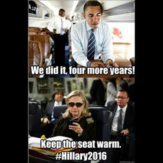 #Obama keeping the seat warm #Hillary2016