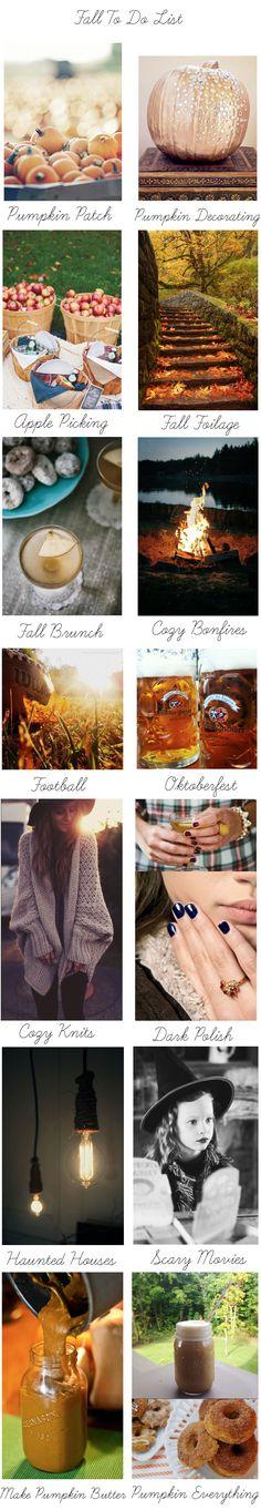 Fall To Do List...