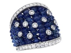 Check out this show-stopper GREGG RUTH  Big Gems Collection Sapphire & White Diamond Ring!!