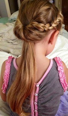 Hairstyles for girls. Braids. Fancy ponytail. Swaypunzel....