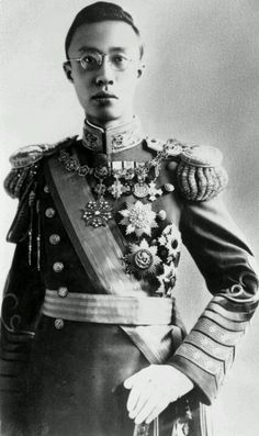 Puyi, (of the Manchu Aisin Gioro clan), the last Emperor of China and the twelfth and final ruler of the Qing Dynasty.
