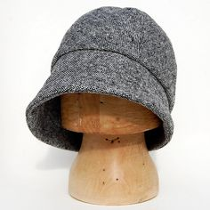 3cdb3961d5a Pure wool cloche hat made of an Italian designer bold tweed. ZUTmanon is a  new