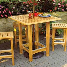 Buy Bistro Patio Table - Downloadable Plan at Woodcraft