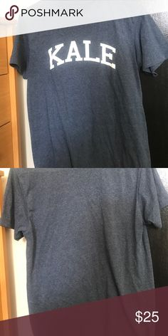 Kale Tee Purchased from the men's section but it fits me and I usually wear women's small or x-small. No flaws Urban Outfitters Tops Tees - Short Sleeve