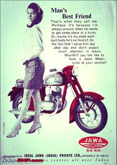 Mans Best Friend, Best Friends, Jawa 350, He Day, Old Ads, Brochures, Cars And Motorcycles, Motorbikes, South Africa