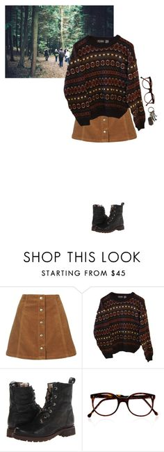 """21"" by appleandrea ❤ liked on Polyvore featuring Topshop, INDIE HAIR, Frye, Cutler and Gross and AllSaints"