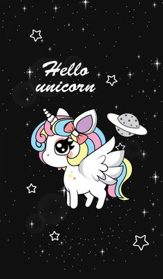 Cute unicorn Wallpaper … Geekery Pinte…