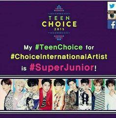 My #TeenChoice for #ChoiceInternationalArtist is #SuperJunior!