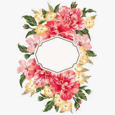 Pintado a mano de Acuarela Flor fronteras, Pintado A Mano De Las Flores, Acuarela Flor Fronteras, Watercolor Flowers Imagen PNG