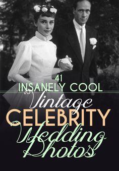 41 Insanely Cool Vintage Celebrity Wedding Photos /  Elizabeth Taylor and Conrad Hilton 1950 <3