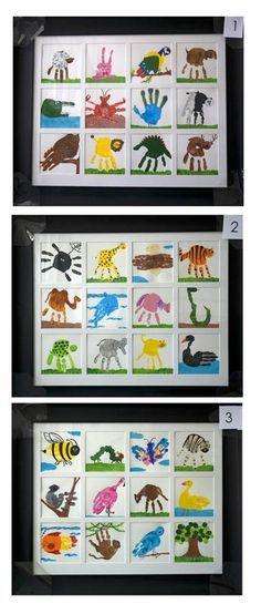 @O.B. Wellness - the handprint art is freaking endless. Kindergarten Art Project- hand print art.