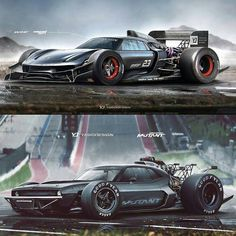 Which of these two would you rather go with? #car cars #carport #Motorsport #Racecar #mutant #inboundracer #racer #inbound #inboundseries #porsche #plymouth #cuda #porsche918 #custom #f1 #formulaone #grandprix #yasid #yasiddesign