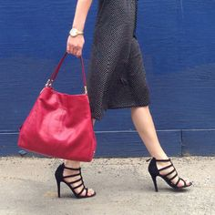 It bag, chic shoe: Phoebe and the Lavania Heel #CoachFromAbove