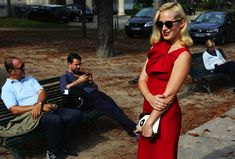 Charlotte Dellal with a Charlotte Olympia bag