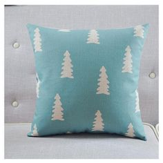 Blue pine trees sofa cushions Nordic style decorative pillows