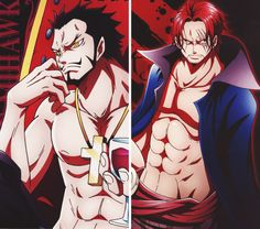 Shanks & Mihawk - One Piece