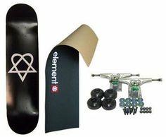 ELEMENT Skateboard LOGO Grip HEARTAGRAM 8 in COMPLETE BLK by Heartagram. $47.99