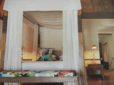 Four posted canopied beds are for guests Beds, Curtains, Furniture, Home Decor, Blinds, Interior Design, Bed, Draping, Home Interior Design