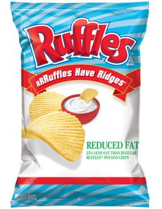 RUFFLES® Reduced Fat Potato Chips What can I say....I can't eat just one!!