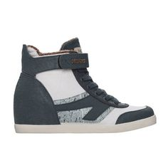 Jade Sneaker Wedge Womens Navy, $69, now featured on Fab.