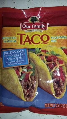 Steven Helmer Publications: Review of Our Family Taco Seasoning Mix