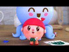 Малышарики - Осьминог - серия 71 - обучающие мультфильмы для малышей 0-4 - моем руки - YouTube
