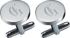 "Visol ""Denzel"" Stainless Steel Engravable Cufflinks - Free Engraving"