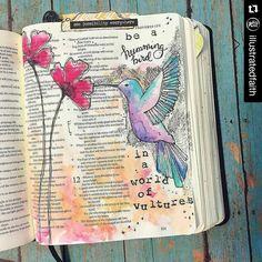 Beautiful. #Repost @illustratedfaith with @repostapp ・・・ Bekah's bibles always makes me stop and soak in the details!! #Repost…
